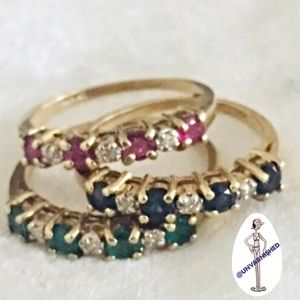 Jewelry - PREVIEW 🆕 Stamped 14K Stackable Ring Trio